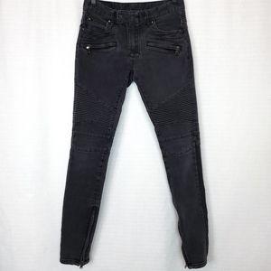 MNML Moto Ankle Zip Stretch Jean 30